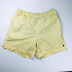 Polo By Ralph Lauren Men's Yellow Swimming Trunks